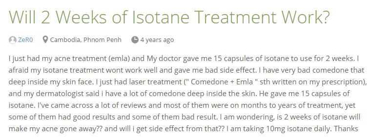 Isotane Testimonial