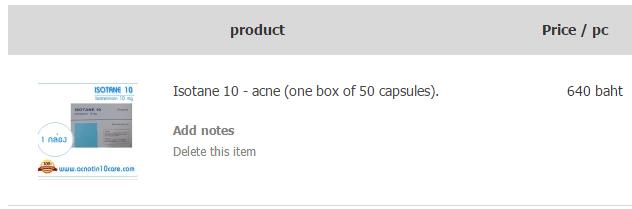 Isotane Price