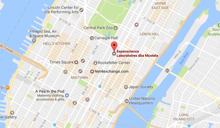 Expanscience Laboratoires dba Mustela Location