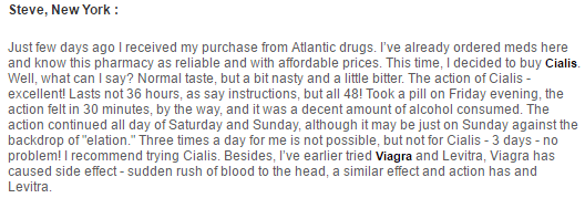 Atlantic-Drugs.net Customer Review