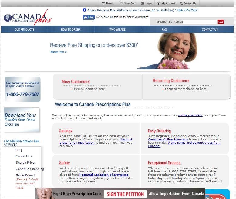 Canadaprescriptionsplus.com Main Page