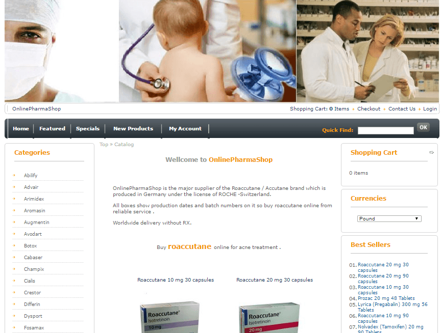 Onlinepharmashop.com Main Page