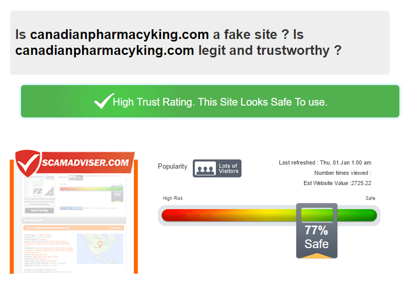 Is Canadianpharmacyking.com a Fake Site?
