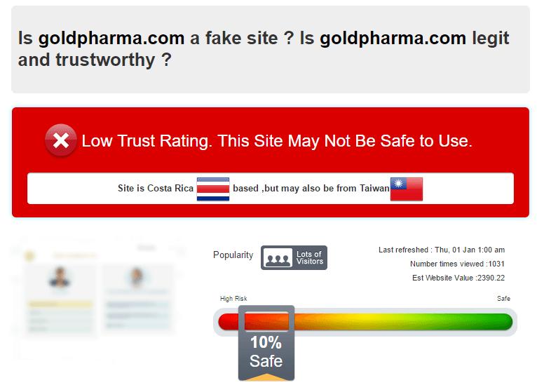 Is Goldpharma.com a Fake Site?