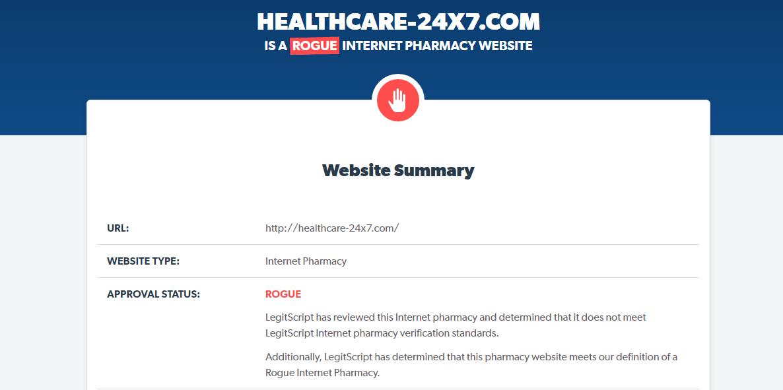 Healthcare-24x7.com Website Summary