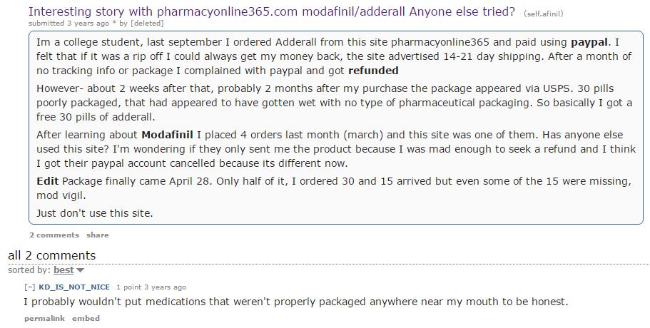 Pharmacyonline365.com Customer Experience
