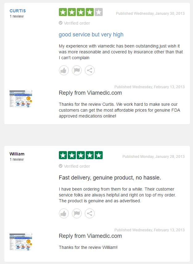 Viamedic.com Feedback
