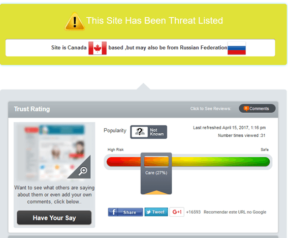 Canadian-pharmacy-store.com is in Threat List