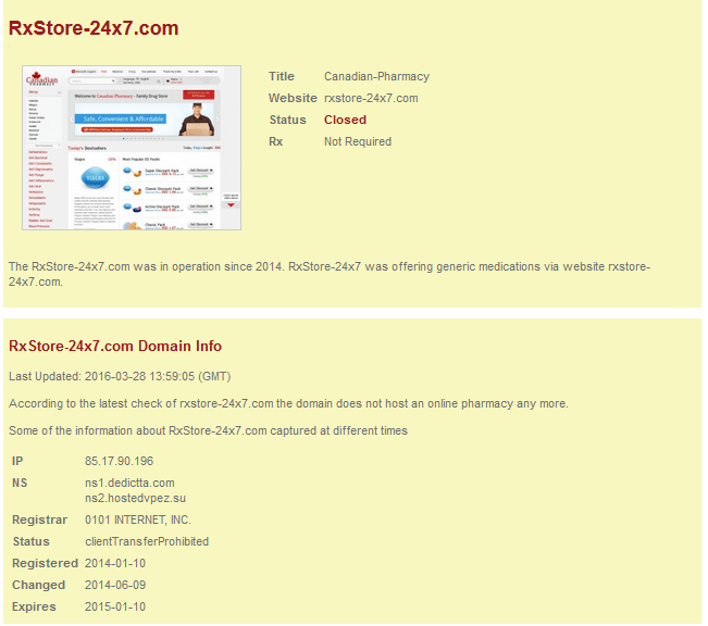 RxStore-24x7.com Website Summary