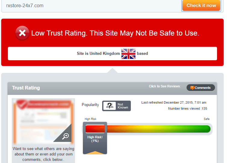 RxStore-24x7.com Trust Rating