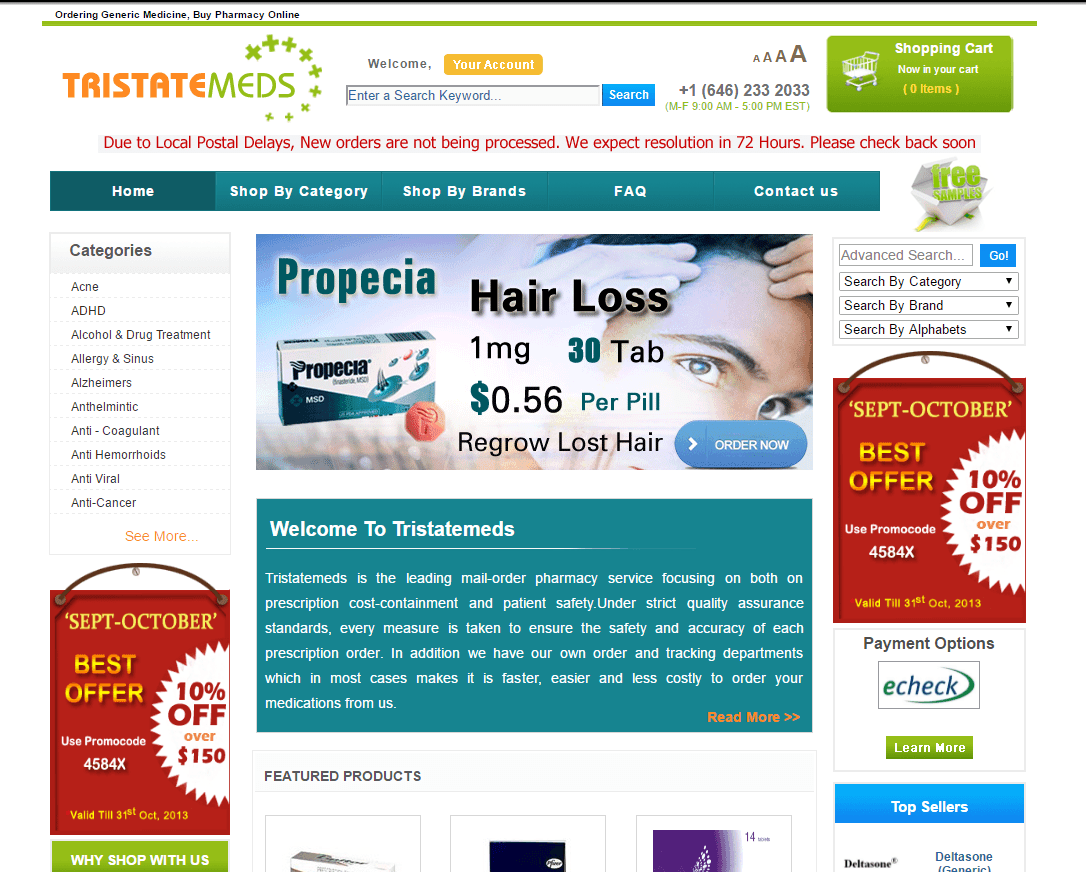 Tristatemeds.com Main Page