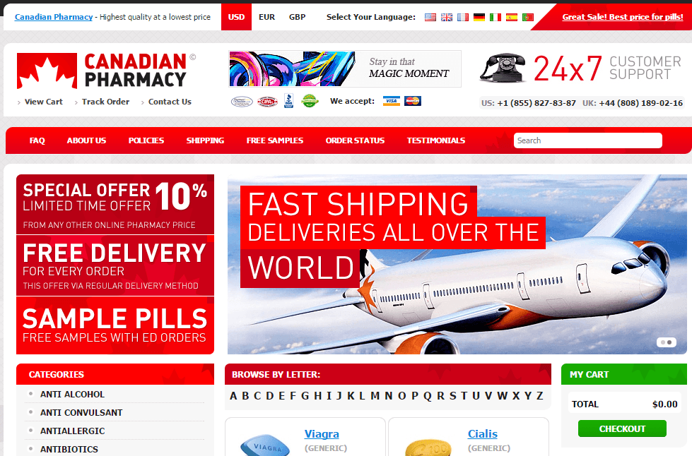 Canadianonlinemeds.com Main Page