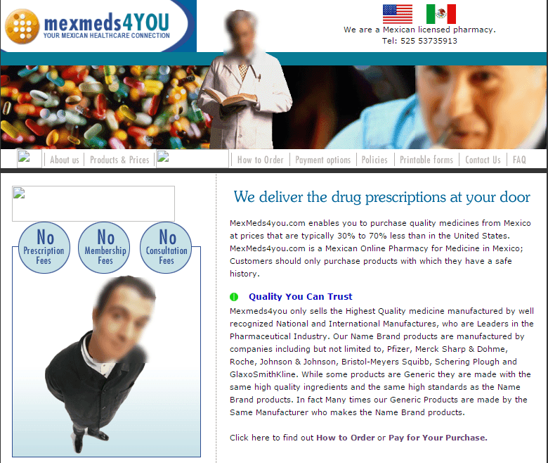 Mexmeds4you.com Main Page