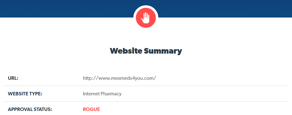 Mexmeds4you.com is a Rogue Website
