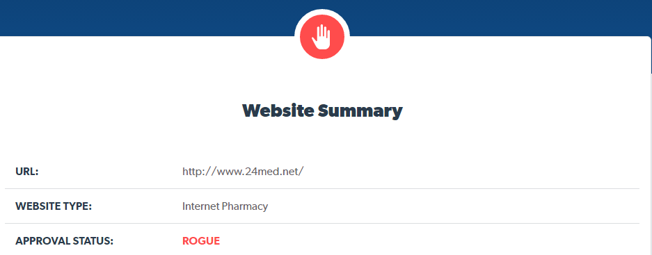 24med.net is a Rogue Pharmacy