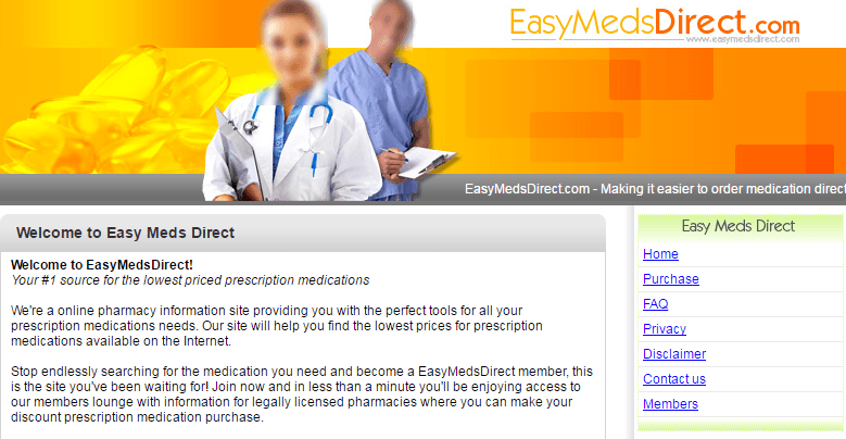 Easymedsdirect.com Main Page