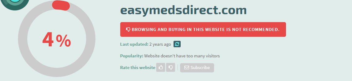 Easymedsdirect.com Safety Information