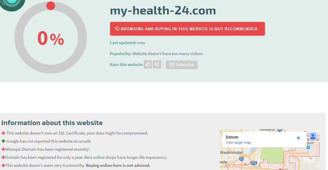 My-health-24.com Safety Level