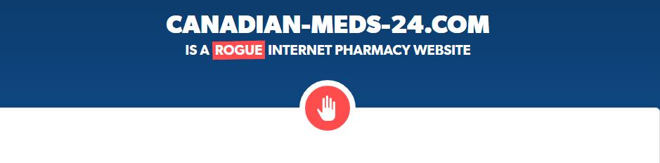 Canadian-meds-24.com is a Rogue Website