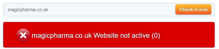 Magicpharma.co.uk Website is Not Active