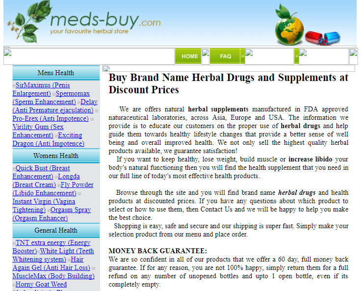 Meds-buy.com Main Page