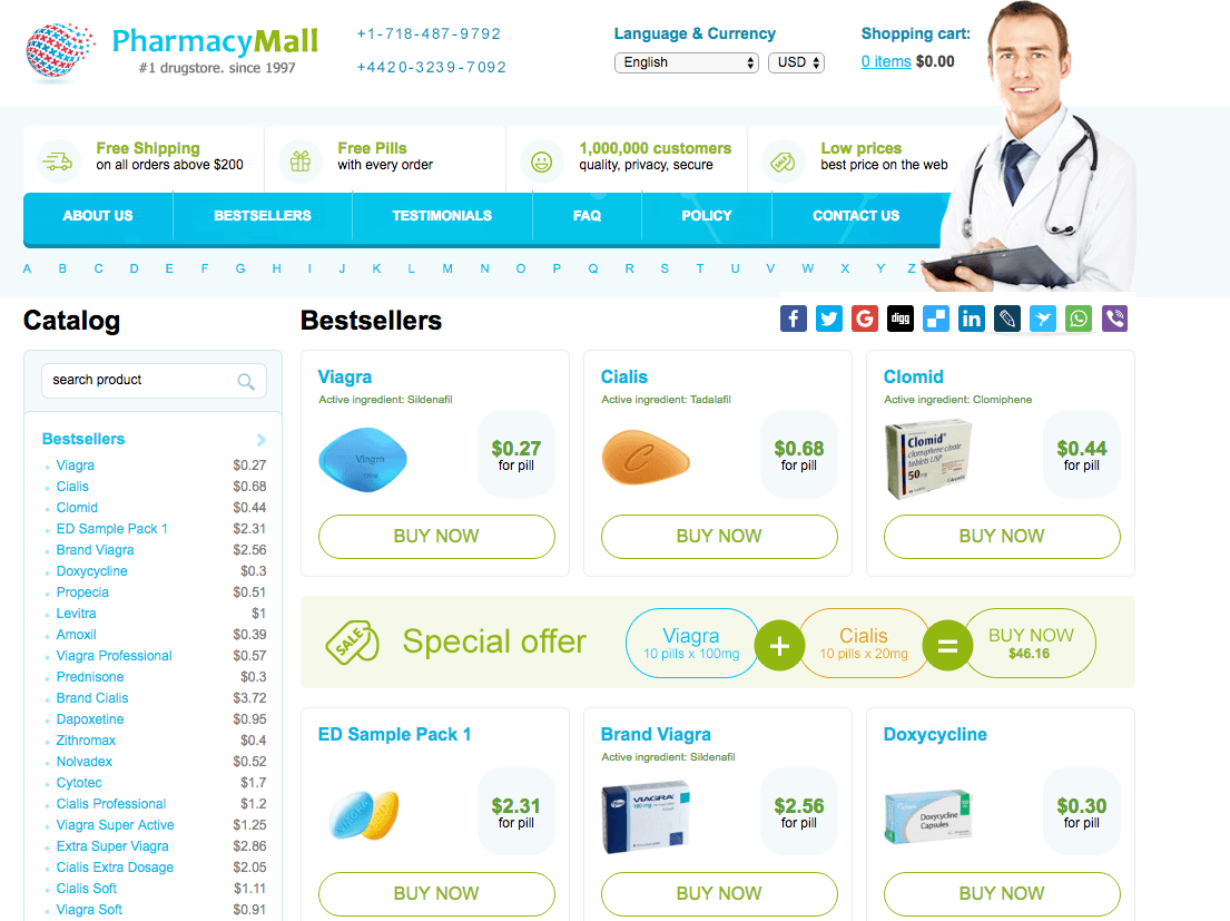 PharmacyMall.net Home Page