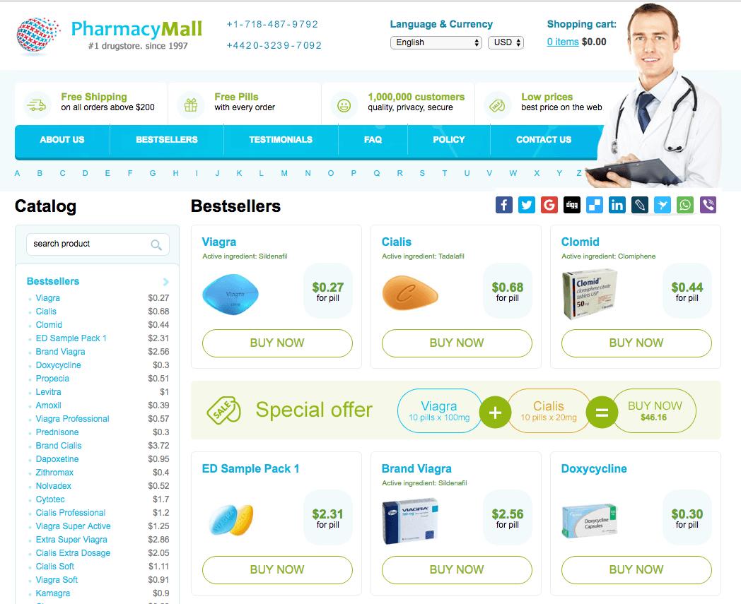 www.PharmacyMall.net Main Page