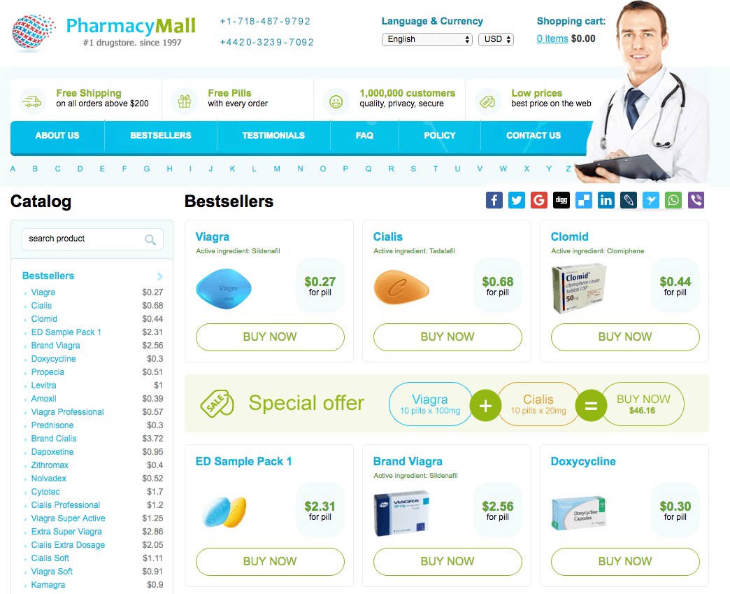 www.PharmacyMall.net Home Page