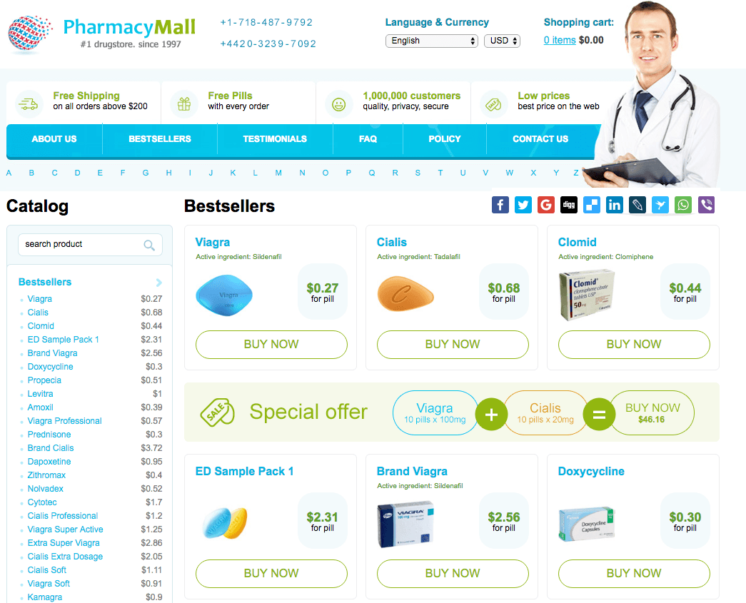 www.PharmacyMall.net Main Page