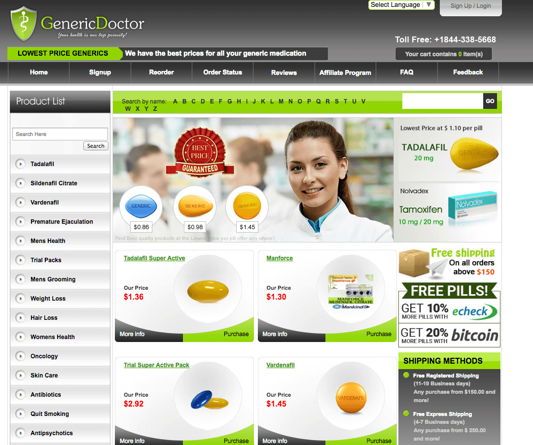 www.GenericDoctor.com Main Page