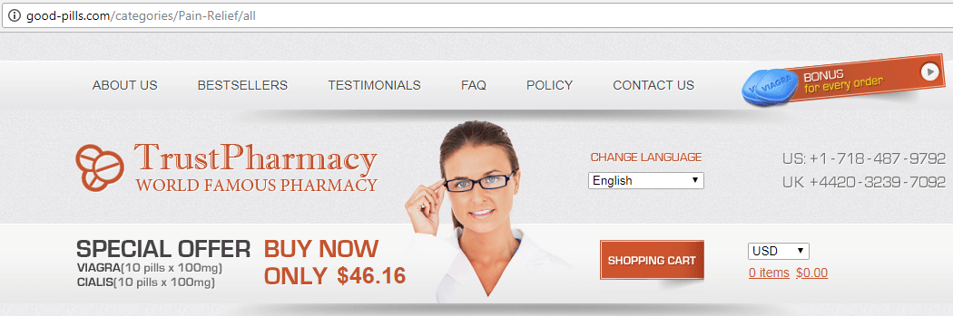 Trust Pharmacy Domain - good-pills.com