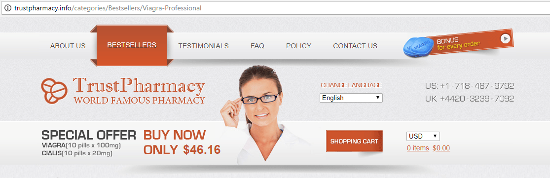 Trust Pharmacy Domain - trustpharmacy.info