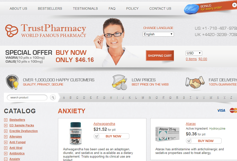 Trust Pharmacy Home Page