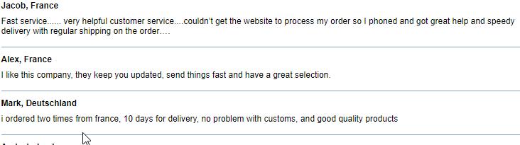 Online Pills User Testimonials